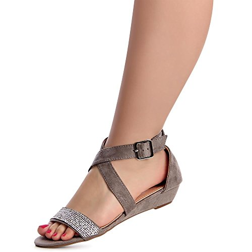 Topschuhe24 Femmes Sandales Topschuhe24 Femmes Sandalettes Sandalettes Gris Femmes Topschuhe24 Gris Sandales Sandales gSpFwqF7