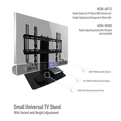 aeon stands and mounts small tv stand with swivel and height adjustment for 23 to 50 inch tvs. Black Bedroom Furniture Sets. Home Design Ideas