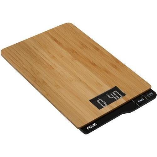 AWS American Weigh Scales ECO-5K Bamboo Digital Kitchen Scale, 11lb x 0.1oz, Wood Platform (AWSECO-5K ) by AWS
