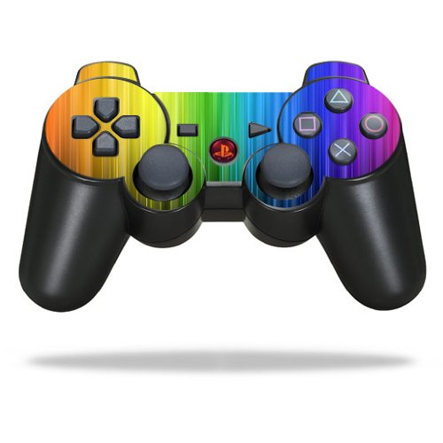 Protective Vinyl Skin Decal Skin Compatible with Sony Playstation 3 PS3 Controller wrap Sticker Skins Rainbow Streaks (Ps3 Controller Rainbow)