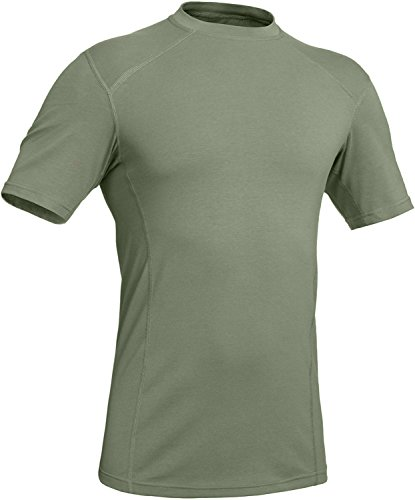 281Z Military Stretch Cotton Underwear T-Shirt - Tactical Hiking Outdoor - Punisher Combat Line (Large, Olive Drab)