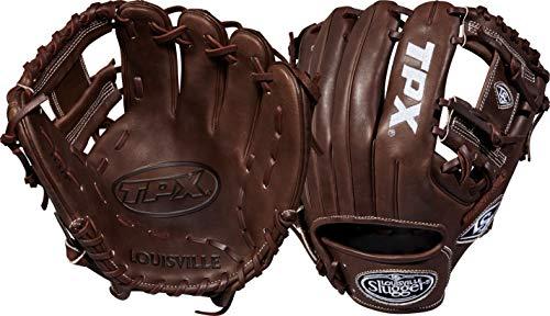 Louisville Slugger 2018 Tpx Infield Baseball Glove - Right Hand Throw Dark Brown/White, 11.5