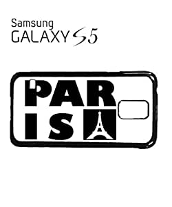 Paris France Eiffel Tower Mobile Cell Phone Case Samsung Galaxy S5 Black