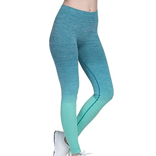 5b9b6bd322d8d7 30%OFF Running Girl Women's Athletic Leggings Workout Ombre Yoga Pants  Stretch High Waist Moisture Wicking Space Dye Skinny Tights