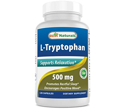 - Best Naturals L-Tryptophan 500mg 120 Capsules - tryptophan Supplements for Natural Way to get Good Night Sleep