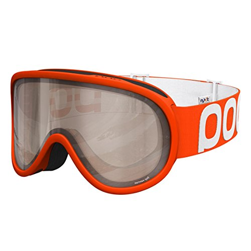 POC Retina Big NXT Photo Skiing Goggles, One Size, Zink Orange Frame, Bronze/Silver Lens