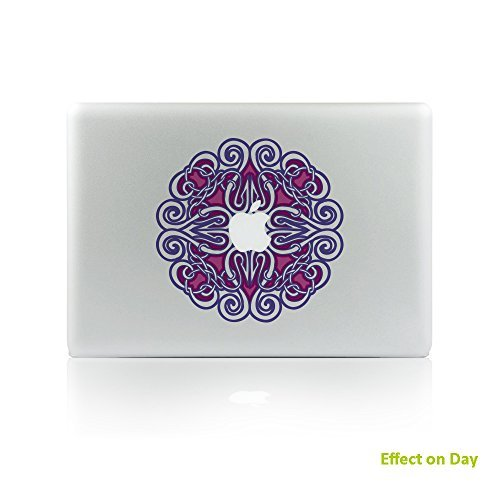 【NEW限定品】 H4S A1502 Night-luminous Cover Removable Decorative A1278 PVC MacBook Decals Skins Stickers Mac Cover Decals for Apple MacBook Pro Air Retina13 Inch Series A1278 A1369 A1466 A1304 A1425 A1502 Mandala 5 [並行輸入品] B0788HJ93R, プチリフォーム商店街:829b0a5d --- a0267596.xsph.ru