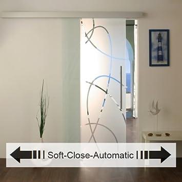 NUEVO Puerta Corredera de Cristal con Soft de Close de puertas correderas Puerta corrediza de vidrio (Automatic, Puerta De Cristal puertas de cristal 20 AS de Soft: Amazon.es: Bricolaje y herramientas