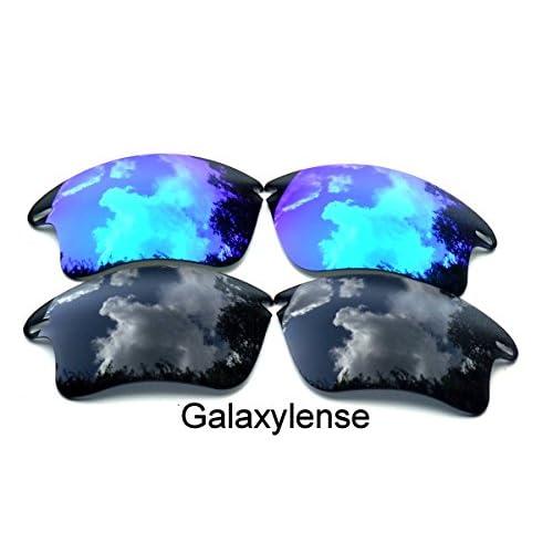 ... Polarizados 2 Pares. hot sale 2017 Galaxy lentes de repuesto para Oakley  Fast Jacket XL negro y azul Color c17d05fe05