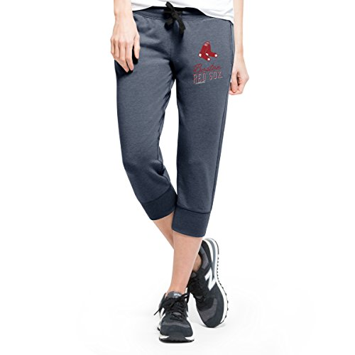 ('47 MLB Boston Red Sox Women's Stride Capri Pants, X-Large, Shift Navy)