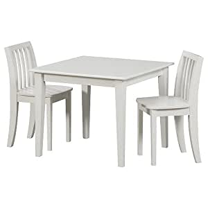 Solutions by Kids R Us Wood Table and Chair Set - White