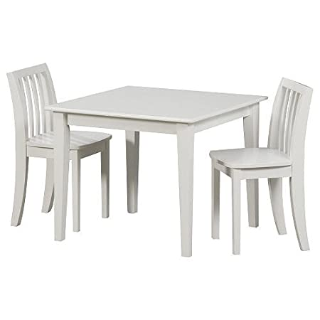 Amazon.com: Solutions By Kids R Us Wood Table And Chair Set   White: Baby