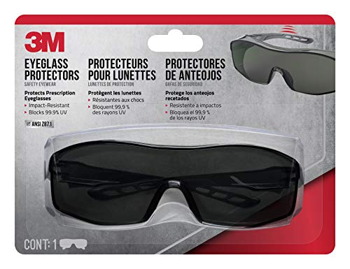 3M 47032-WZ6 Safety Eyeglass Protectors with Scratch Resistant Lens, Tinted