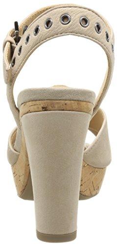 Geox D Heritage A - Sandalias de Vestir de cuero mujer Beige - Beige (Lt Taupe)