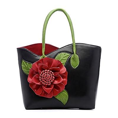 Women Handbag 3D Flower Seris PU Leather Purse Tote Bag By Vanillachocolate