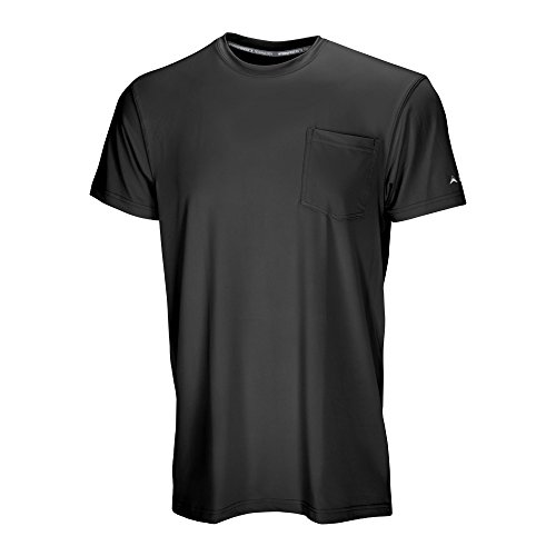 Arctic Cool Mens Pocket Workwear Instant Cooling Shirt with UPF 50+ Sun Protection, Cool Black, XXL