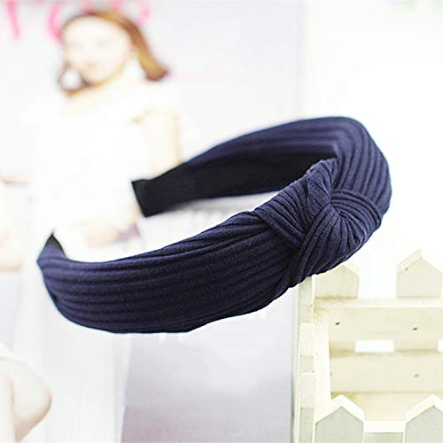 1PC Knot Cross Tie Solid Fashion Hair Band Hairband Knitted rib Girls Bow Hoop Hair Accessories Velvet Twist Headband -