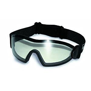 Global Vision Eyewear Flare Anti-Fog Goggles with Storage Pouch, Clear Lens