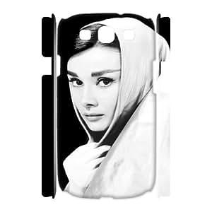 C-EUR Audrey Hepburn Customized Hard 3D Case For Samsung Galaxy S3 I9300