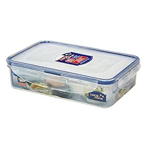 LOCK & LOCK Airtight Rectangular Food Storage Container with Removable Divider 27.05-oz / 3.38-cup