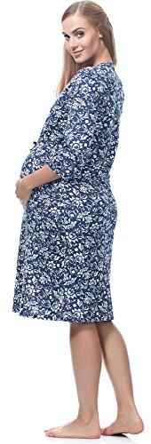 per Allattamento Blu da Marino 167 Be Flori Mammy BE20 Notte Camicia W7X4IcqZ