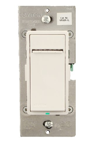 Vizia Coordinating Dimmer - Leviton VP00R-1LZ Vizia + 3-Way or more Applications Digital Matching Dimmer Remote, White/Ivory/Light Almond