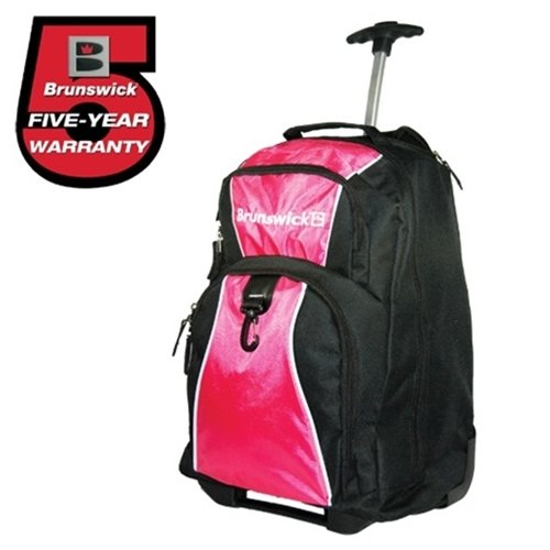 Brunswick Gear Single Roller Bowling Bag- Black/Pink ()
