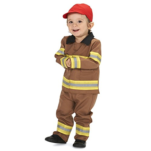 Tan Firefighter with Cap Infant Costume (Firefighter Costume Baby)