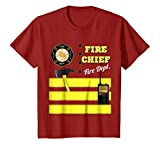 Kids Firefighter Fireman Uniform Halloween Costume T Shirt Gift