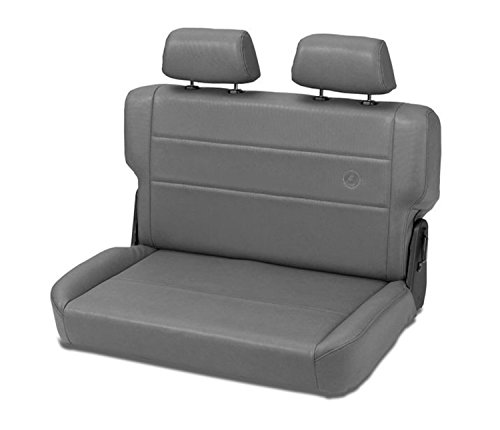 Bestop 39440-09 TrailMax II Fold and Tumble Charcoal All-Vinyl Rear Bench Seat for 1955-1995 CJ5, CJ7 and Wrangler - Third Vehicles Row Seat