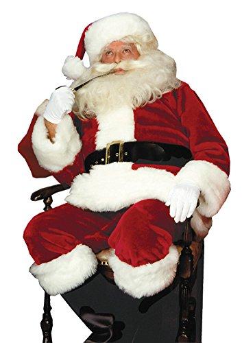 Santa Suit Crimson Imperial Adult Mens Costume Christmas Red Theme Party Attire, X-Large (50-54)]()