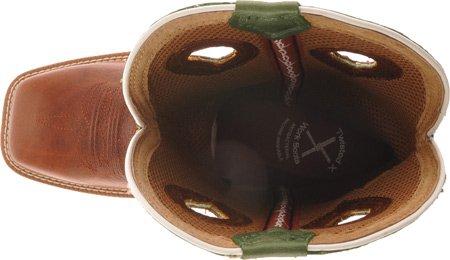 Gedraaide X Mens Lite Gewicht Werk Boot Vierkante Neus - Mlcw003 Cognac / Lime