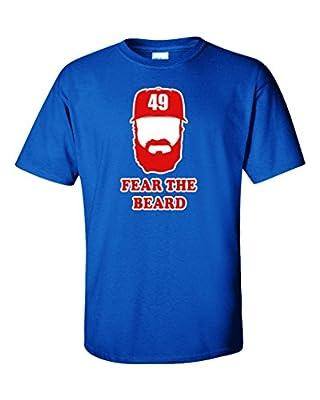 """Jake Arrieta Chicago Cubs """"Fear The Beard"""" T-Shirt"""