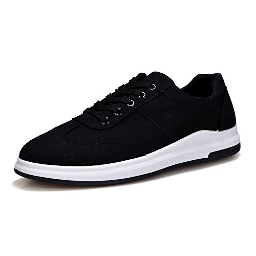 piatta Nero all'abrasione Suola da Resistente Color Sneaker uomo Up 42 casual amp;Baby Low EU Canvas Dimensione Scarpe Nero Sunny Mocassini Top Lace XZwq1YSx