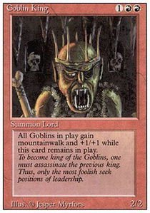 Magic: the Gathering - Goblin King - Revised Edition (Gathering Magic Goblin King The)
