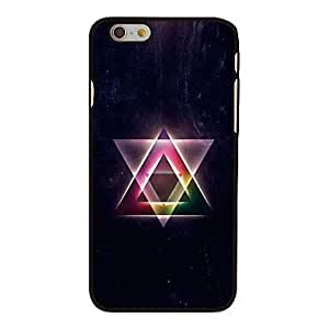 DDLPowerful Triangle Style Plastic Hard Back Cover for iPhone 6