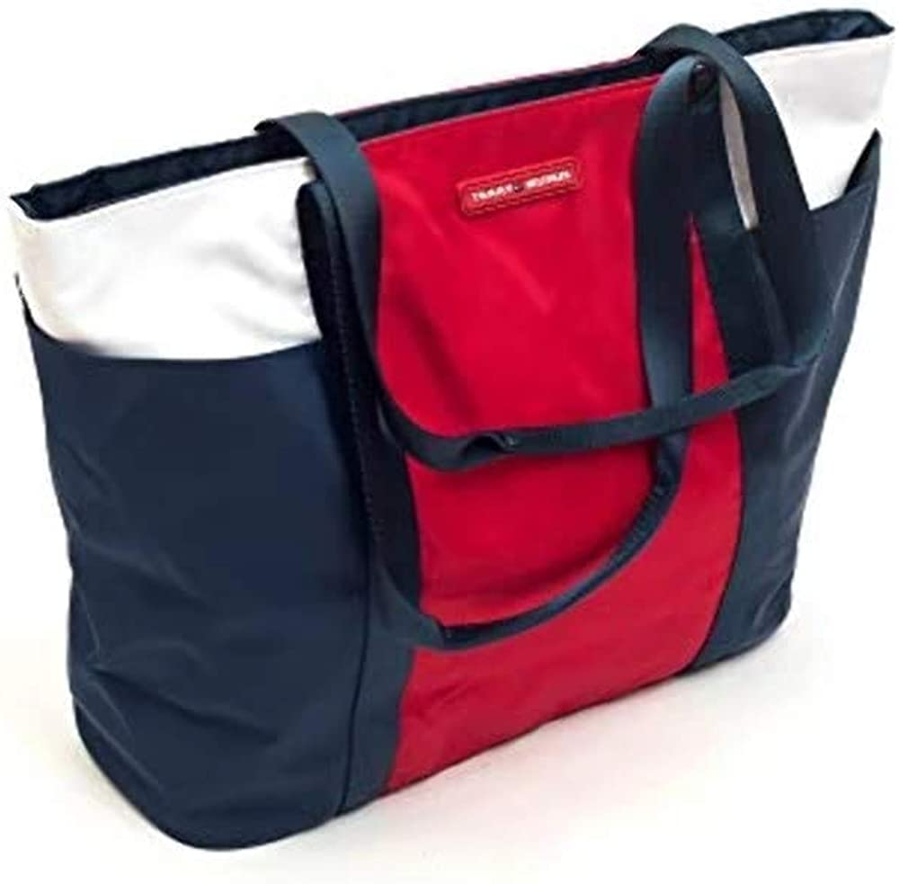 Tommy Hilfiger Nylon Colorblock Tote Bag