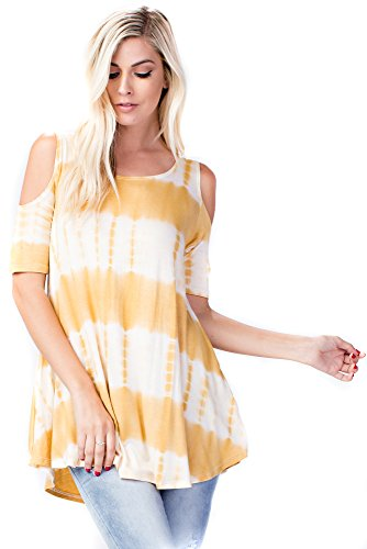 Betsy Red Couture Women's Tie Dye Soft Knit Tunic Top (S-3X) -