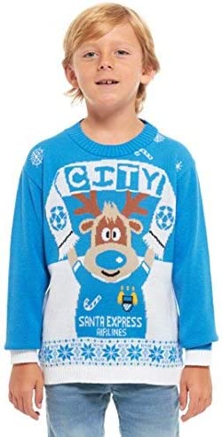 Football Jumper Sweater Christmas Xmas 2019 Exclusively to for Ages 2-14 Years Retro New Camp Ltd Girls Kids Boys Children Unisex Christmas Xmas Knitted Novelty Elf