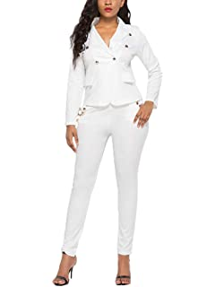 Betrothales Mujer Traje Y Pantalones Pantalones Set Camisa ...