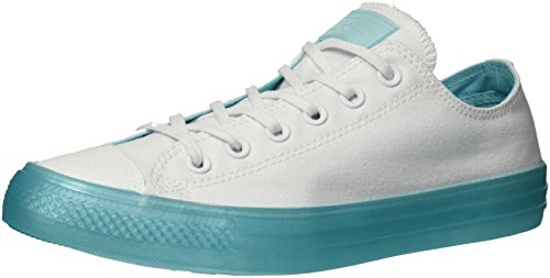 Converse Women's Chuck Taylor All Star Candy Coated Low Top Sneaker, White/Bleached Aqua, 7.5 M US