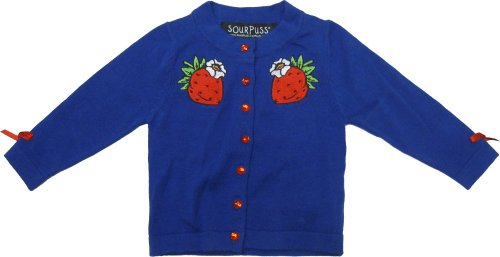 Blue Berry Cute Kids Cardigan from Sourpuss Clothing Berry Kids Clothing