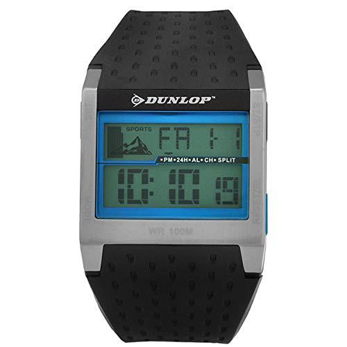 Dunlop Digital Watch Mens DUN113G07 Silver/Blue Quartz