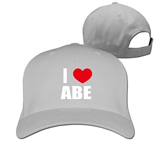unisex-i-love-abe-i-love-abraham-heart-cap-ash