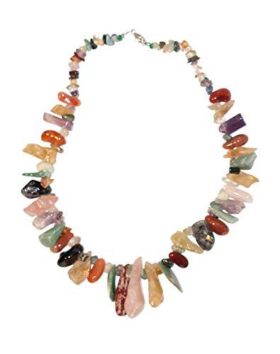 - Brazilian Chakra Crystal Necklace Multi Stone Chunky Statement