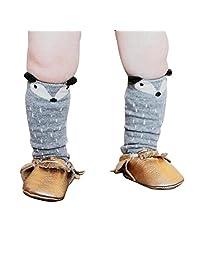 DaySeventh Fashion Cute Toddlers Kids Girls Fox Pattern Knee High Socks for 0-6 Years