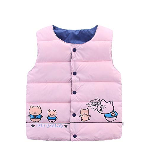 (AMSKY Baby Outfits for Boys 0-3 Months,Childrens Kids Baby Girls Boy Sleeveless Piglet Print Warm Jacket Waistcoat Tops,Baby Girls')