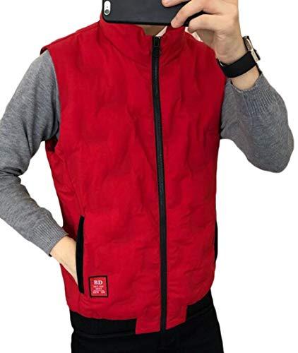 Leggero Maschile Giù Eku Colletto Giacca Gilet Packable Coreana Puffer Rossa Alla 1qw6xwA8I