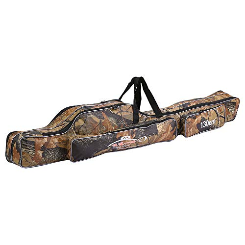 - Lixada Fishing Tackle Bag Two Layer Large Capacity Folding Fishing Rod Carry Case Fishing Pole Storage Bag(120-150cm)