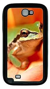 Samsung Note 2 Case Green Frog TPU Custom Samsung Note 2 Case Cover Black